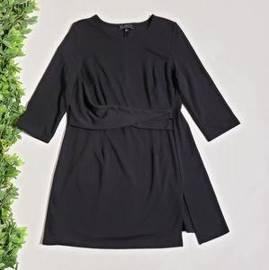 ELOQUII Twist Front Black Dress